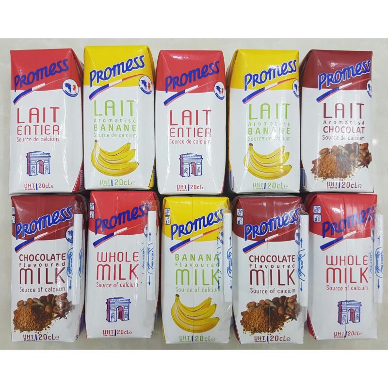 Sữa tươi Promess có nhiều vị để lựa chọn