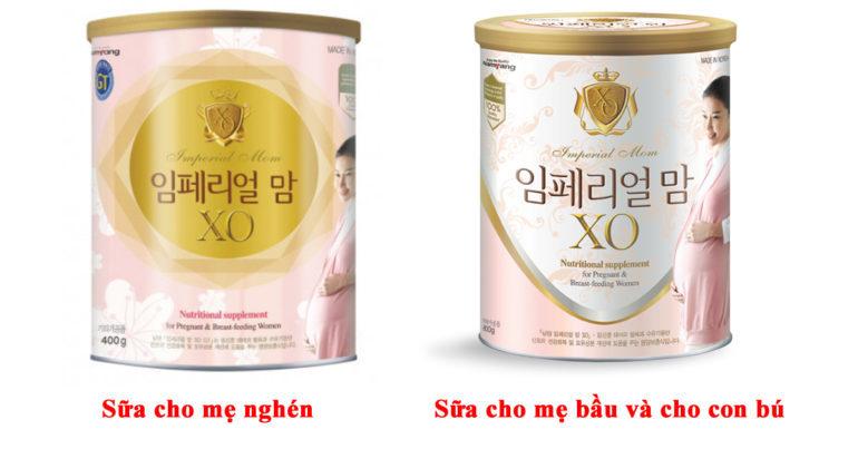 Các loại sữa XO