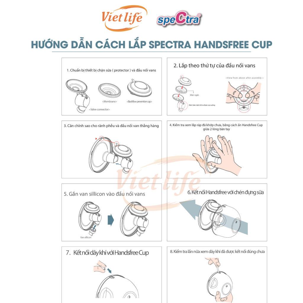 Cách lắp linh kiện của Spectra Handsfree Cup