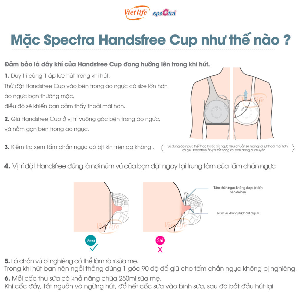 Cách mặc Spectra Handsfree Cup