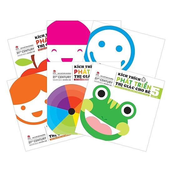 Bộ sách kích thích phát triển thị giác cho bé