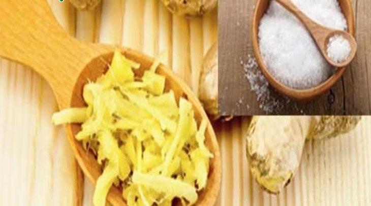 Trị ho bằng gừng và muối giúp kháng khuẩn và chống viêm