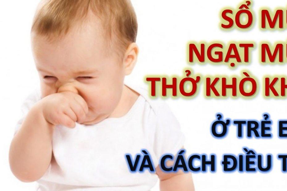 cách trị sổ mũi ở trẻ em