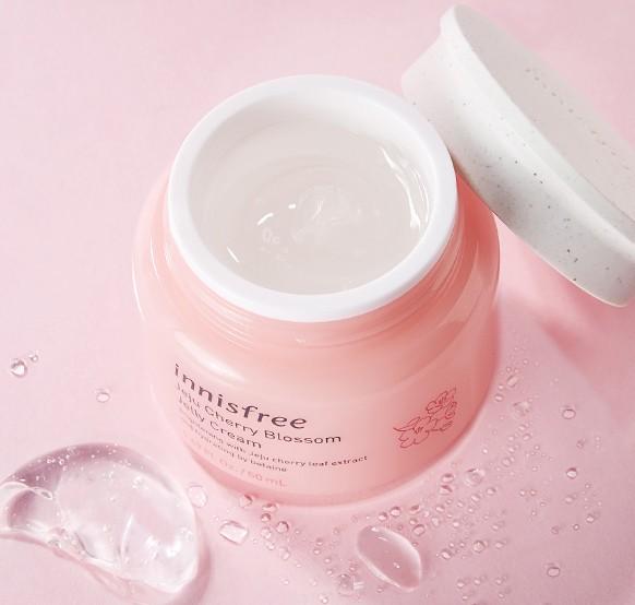 Mô tả Kem dưỡng ẩm dạng gel Innisfree Jeju Cherry Blossom Jelly Cream