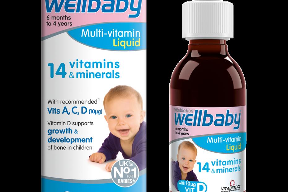 Wellbaby Multi-Vitamin Liquid - Tổng hợp 14 vitamin và khoáng chất