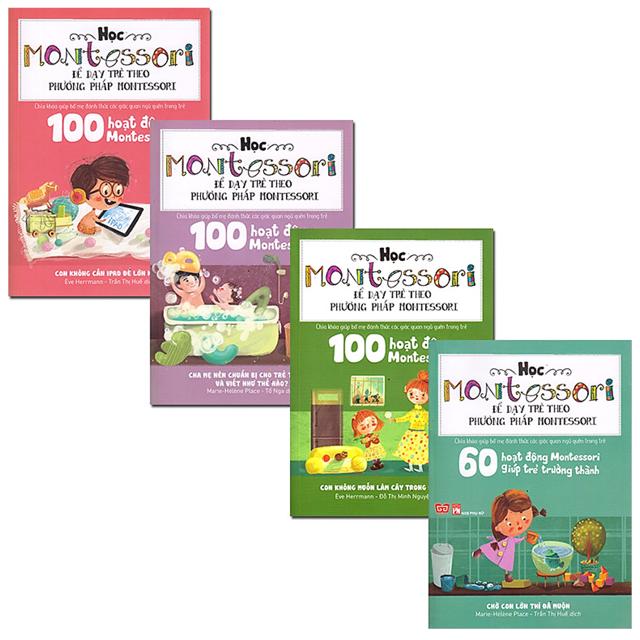 Combo 4 Cuốn Học Montessori để dạy trẻ theo phương pháp Montessori