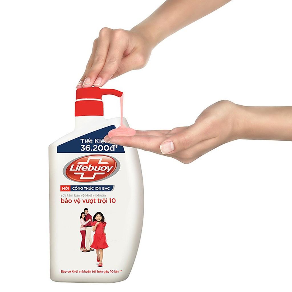 Sữa tắm Lifebuoy bảo vệ vượt trội