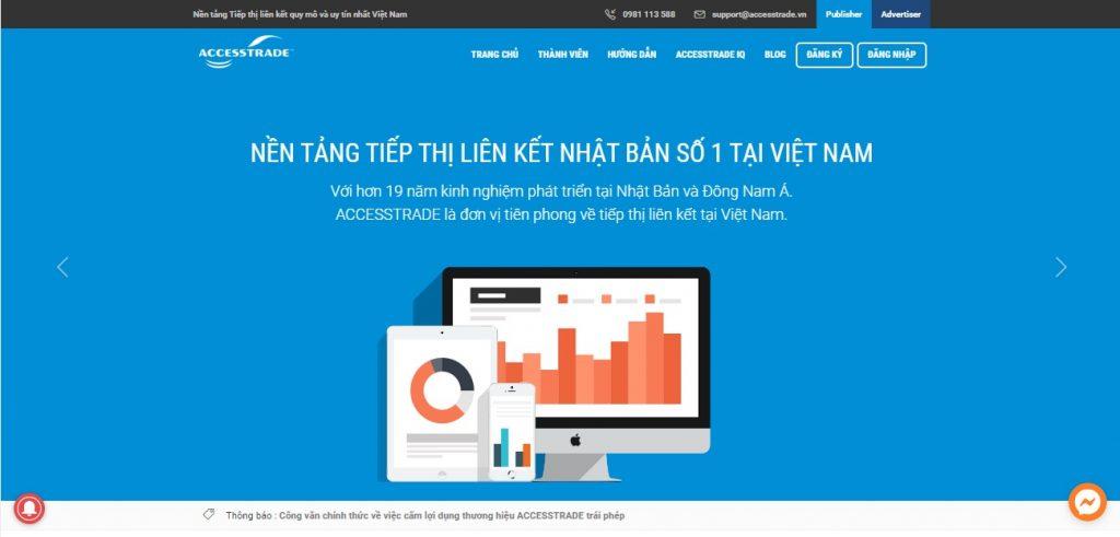Nền tảng tiếp thị liên kết Accesstrade