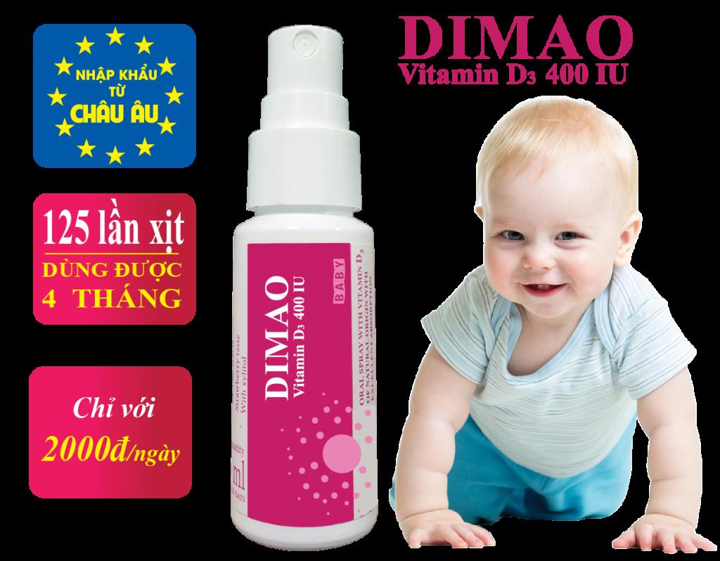 vitamin D3 Dimao cho trẻ còi xương