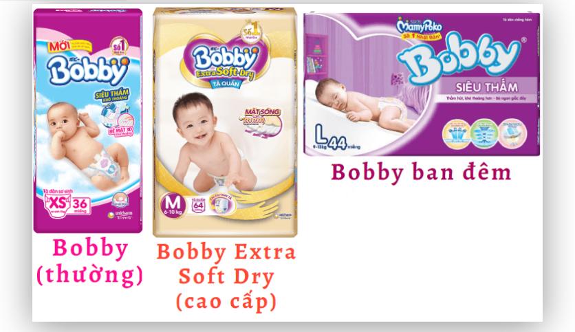 Tã bỉm Bobby được nhiều mẹ chọn dùng cho con yêu