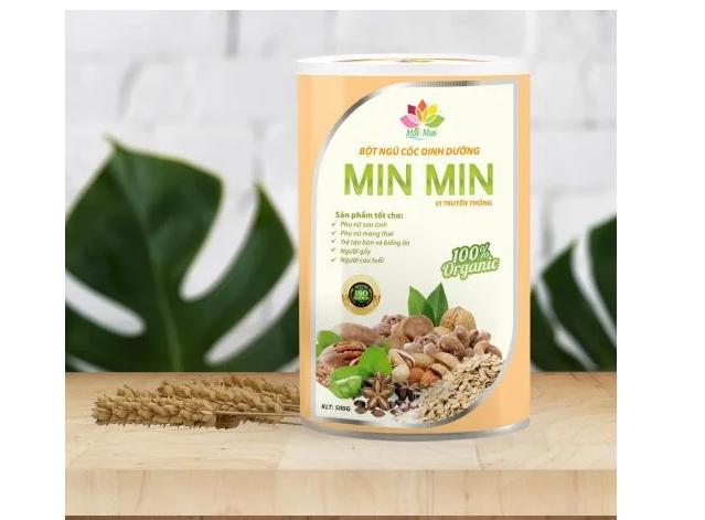 Bột ngũ cốc lợi sữa Min Min được nhiều mẹ bỉm tin dùng