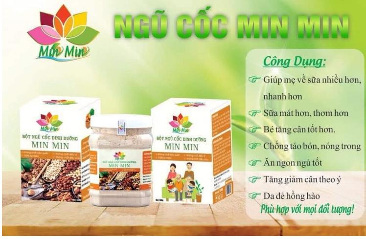 Công dụng bột ngũ cốc Min Min