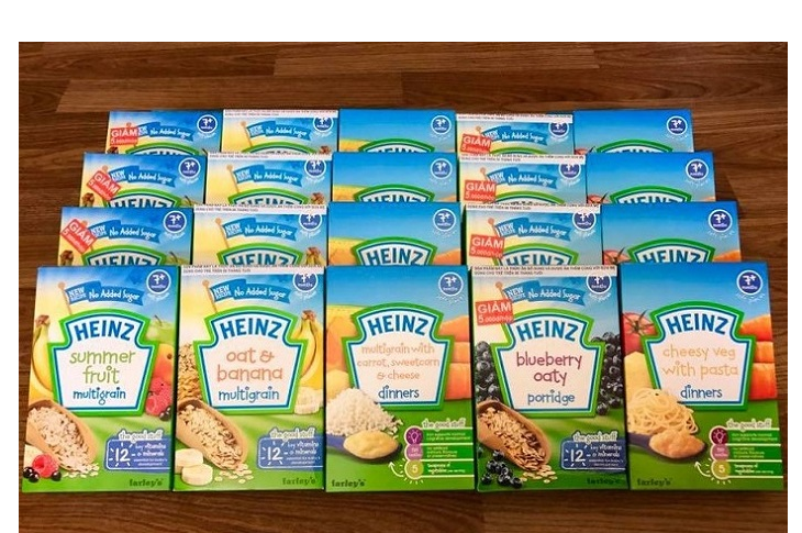 Bột ăn dặm Heinz sản phẩm yêu thích của nhiều mẹ mua cho con