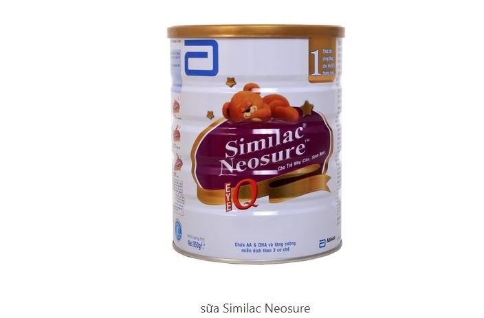 Sữa Similac Neosure dùng cho các bé đề kháng yếu
