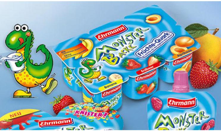 Sữa chua Ehrmann của Đức