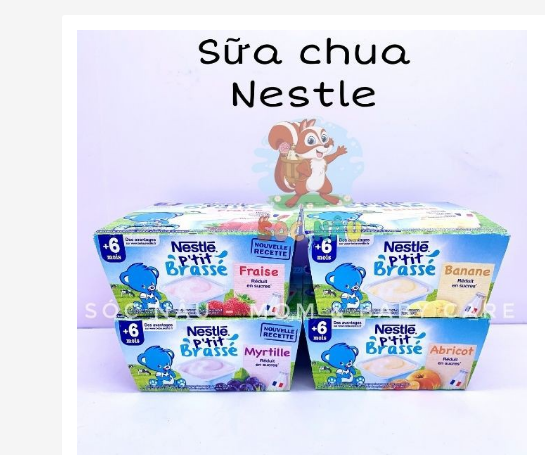 Top sữa chua dành cho bé từ 6 tháng tuổi trở lên