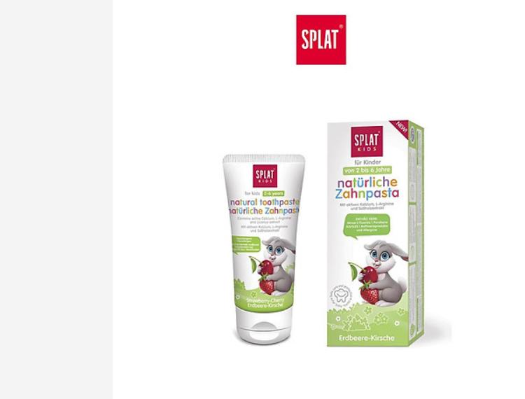 Kem đánh răng SPLAT Wild Strawberry Cherry cho trẻ em 2 6 tuổi