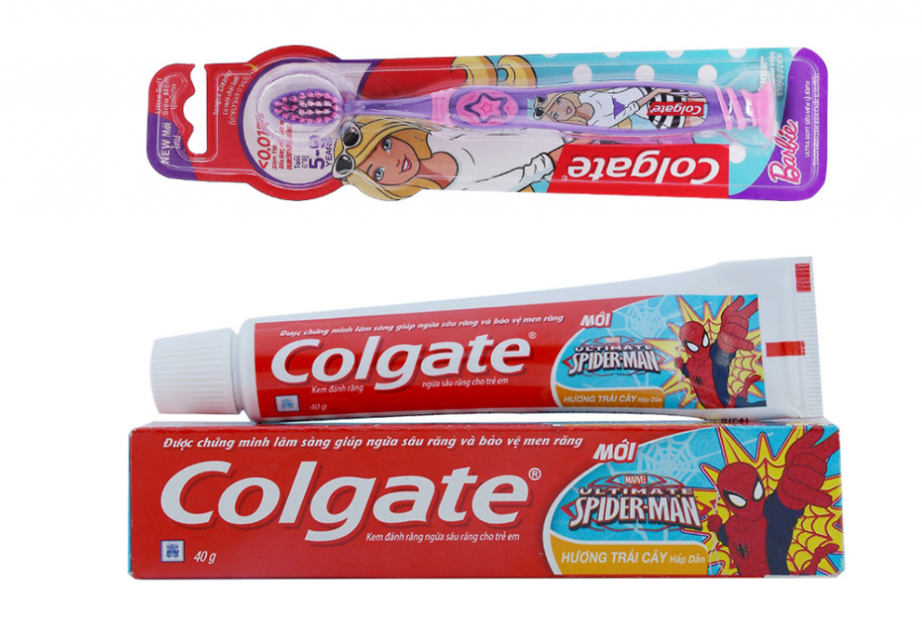 Kem đánh răng trẻ em Colgate Spiderman 40g