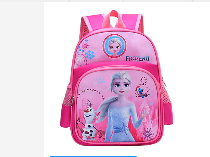 Balo bé gái in hình Công chúa Elsa Hồng cho bé mẫu giáo